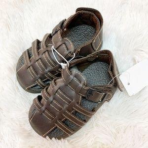 Brown Fisherman Sandals Velcro Closure Size 4T